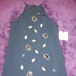 H8gh neck black dress
